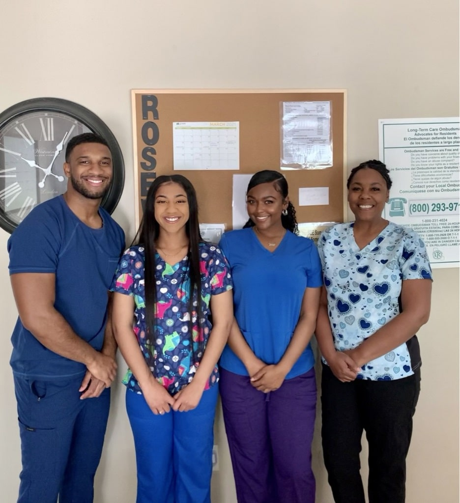 The medical staff at Rosewood assisted living in Visalia CA